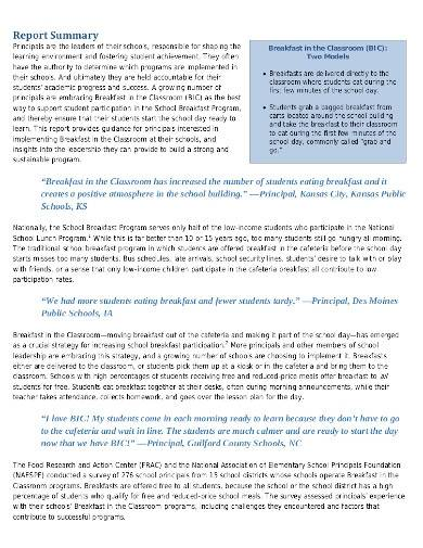 elementary research report summary