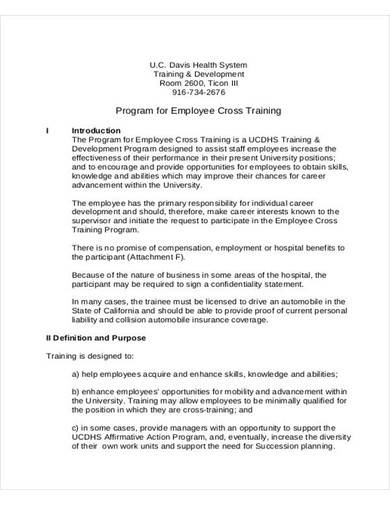 employee training plan program