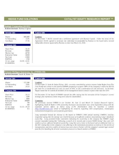 equity research report template1
