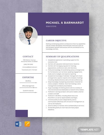 Free 13 Sample Hr Executive Resume Templates In Ms Word Pdf
