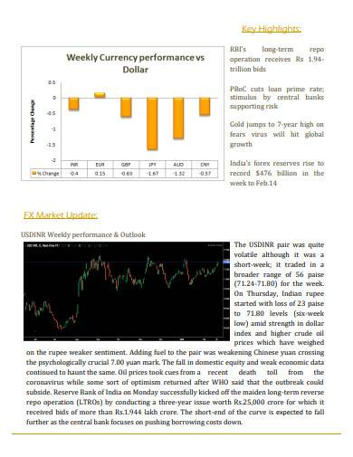 foreign exchange weekly research report