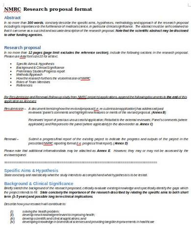 formal clinical research proposal