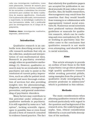 formal qualitative research plan