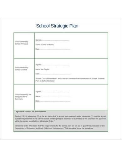 formal school strategic plan