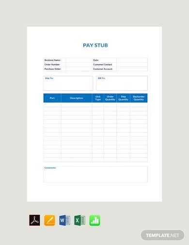 free basic pay stub sample