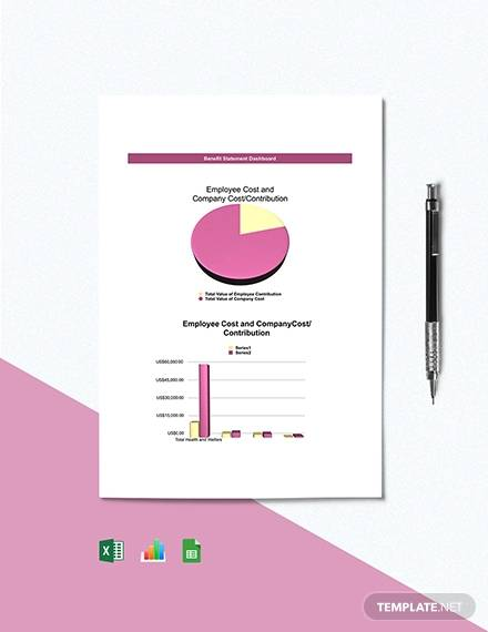 free benefit statement dashboard template