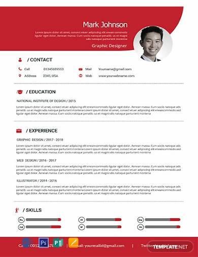 free graphic designer resume