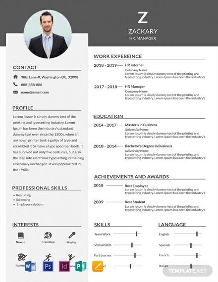 free 14  sample hr manager resume templates in ms word