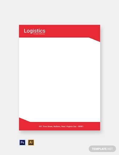 free logistics services letterhead template