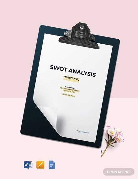 free sample swot analysis template