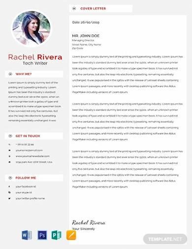 free tech writer resume