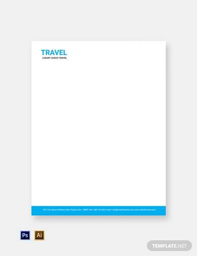 free travel agency letterhead template