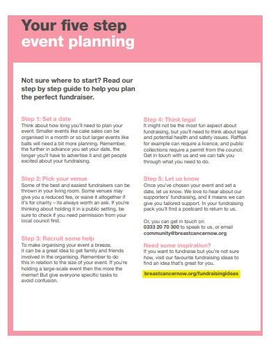 fundraiser event planning template