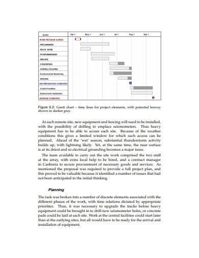 gantt chart research project proposal