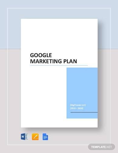 google marketing plan sample