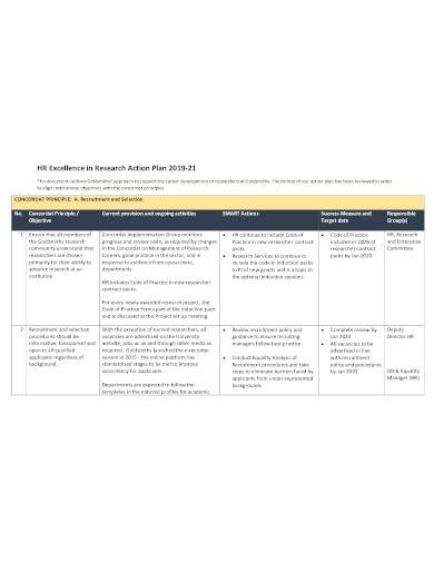 hr research action plan template