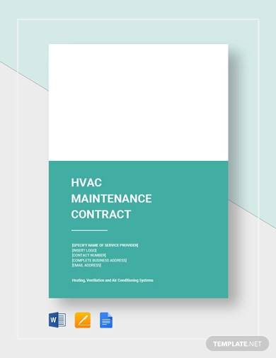 hvac maintenance contract sample