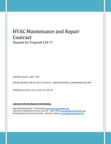 hvac maintenance and repair contract