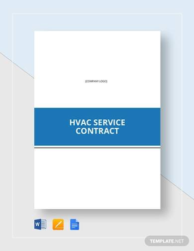 hvac service contract template