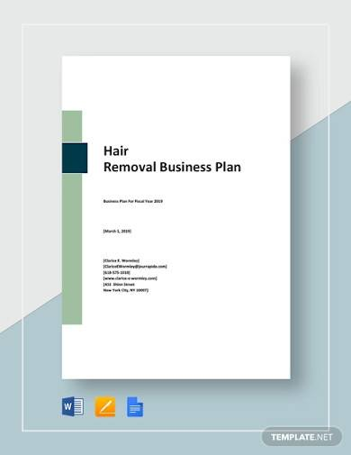 hair removal business plan