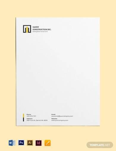 home builders letterhead template