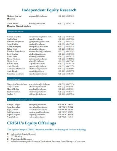 independent equity research report