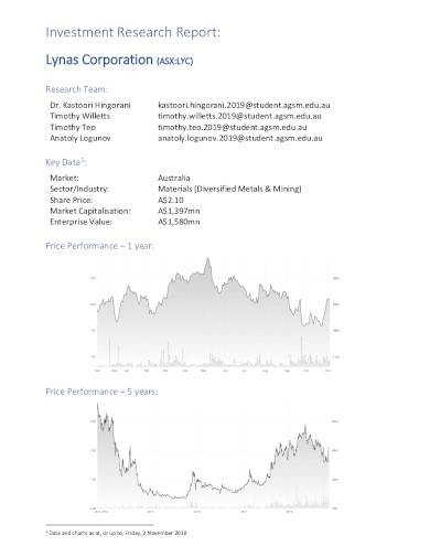 investment research report template