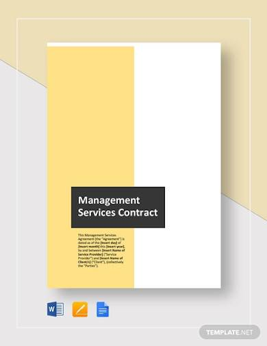 managed services contract template
