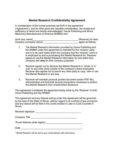 market research confidentiality agreement