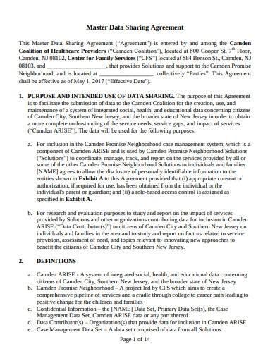 master data sharing agreement