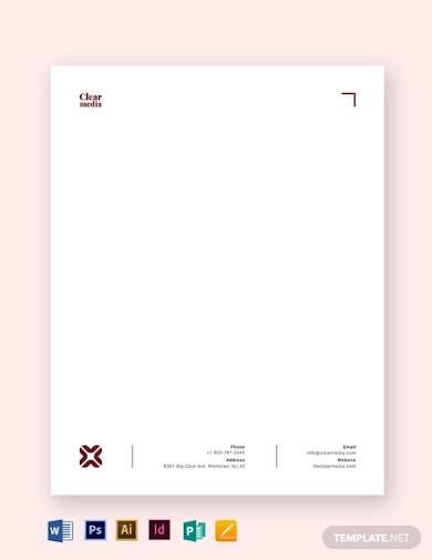 media letterhead template