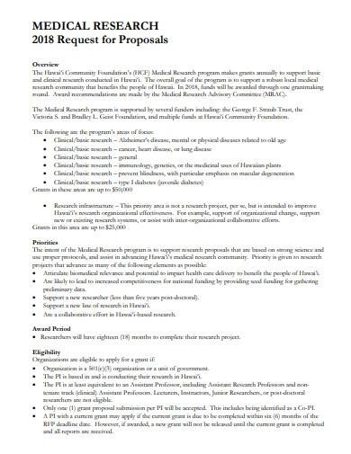 medical research request proposal