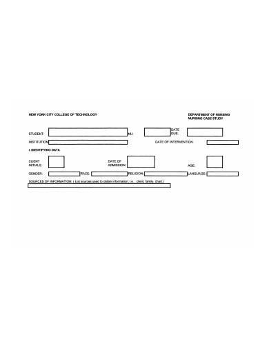 nursing case study report template