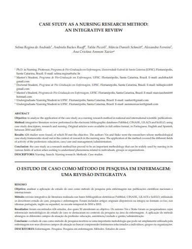 nursing research case study template