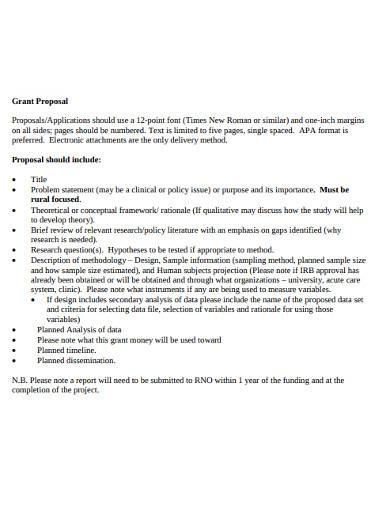 professional research grant proposal