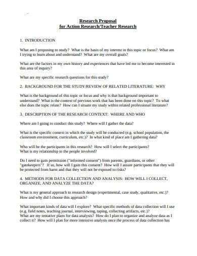 professional research proposal plan