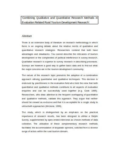 qualitative and quantitative research methods