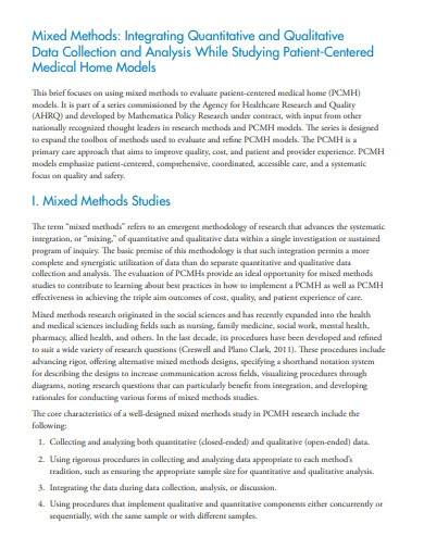 quantitative and qualitative research report