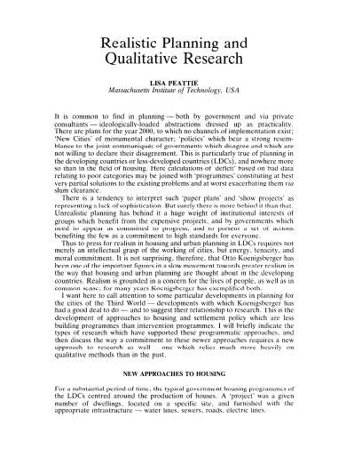 realistic planning qualitative research