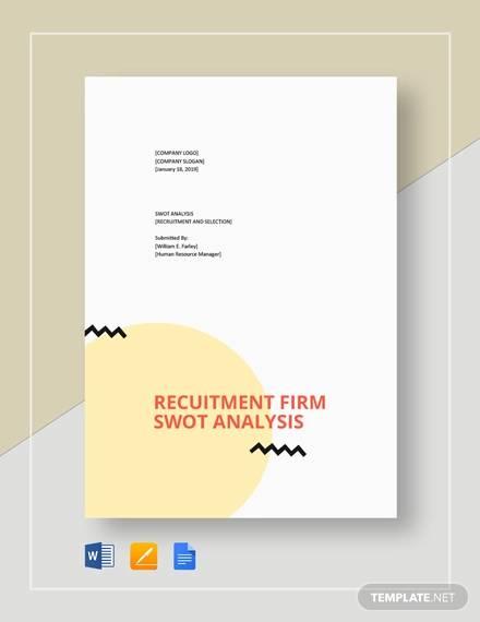 recruitment swot analysis template