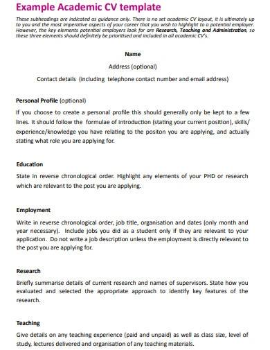 research assistant cv template