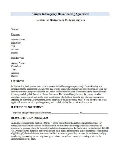 research data sharing agreement