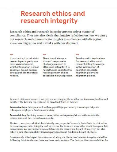 research ethics and research integrity