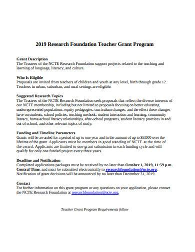 research foundation grant proposal
