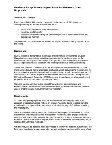 research grant proposal plan