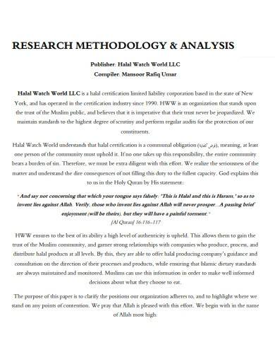 research methodology analysis report