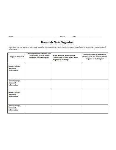 research note organizer