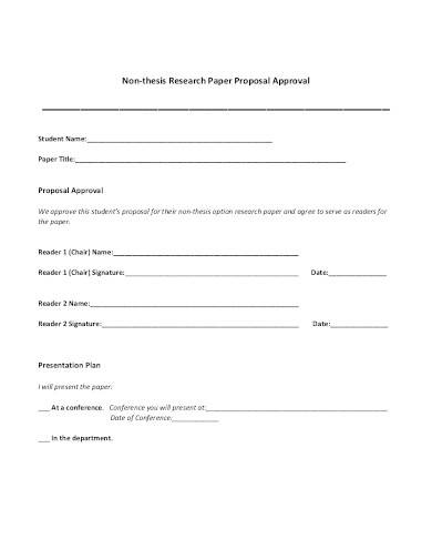 research paper proposal approval form