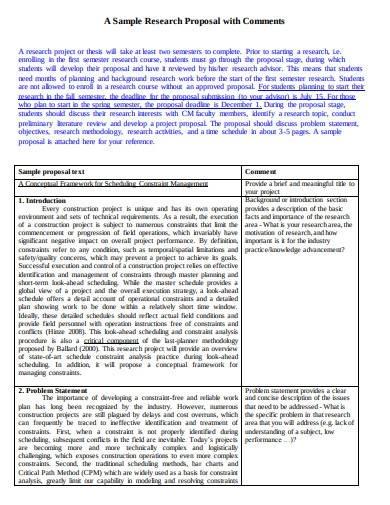 research proposal plan format