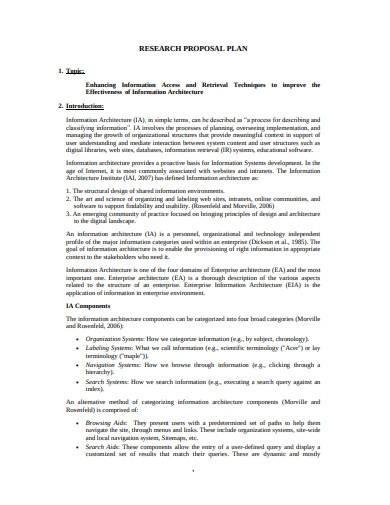 research proposal plan template